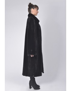 long black mink coat right side