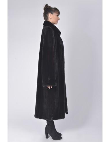 long black mink coat right side