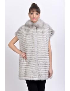 Off-white fox fur vest front side