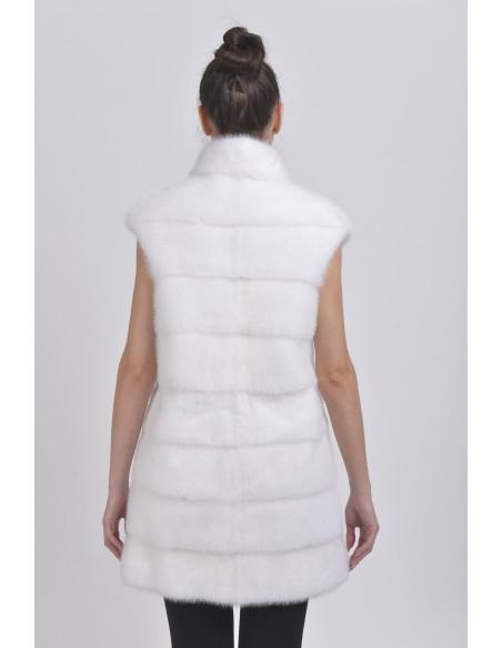 White mink vest back side