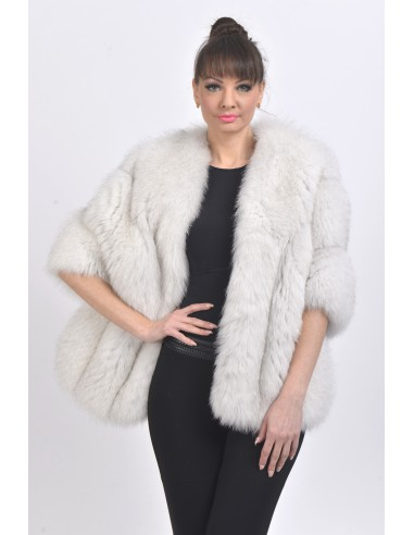 White fox jacket front side