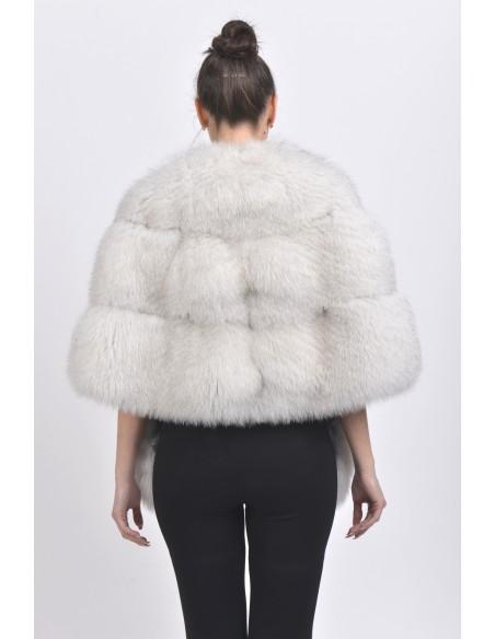 White fox jacket back side